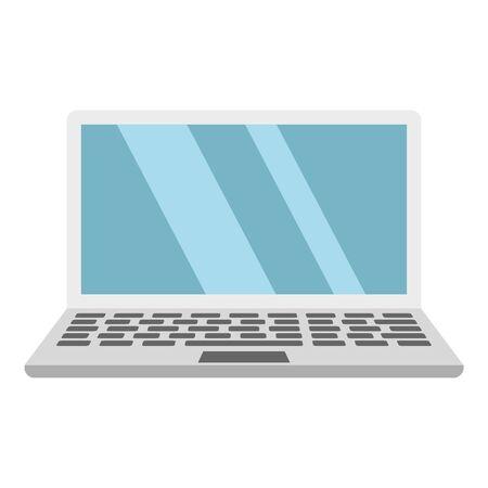 Laptop icon, flat style Ilustrace