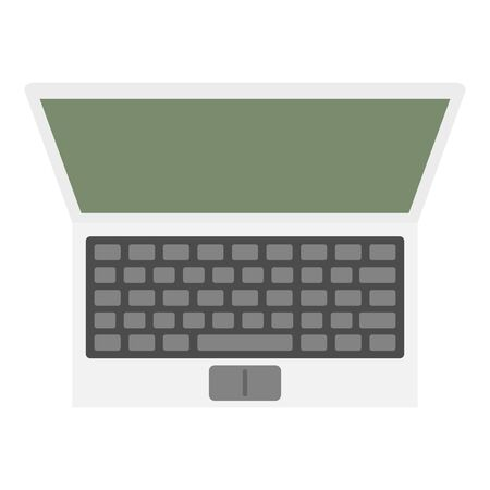 Computer icon, flat style Illustration