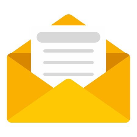 Mail letter icon, flat style Ilustrace