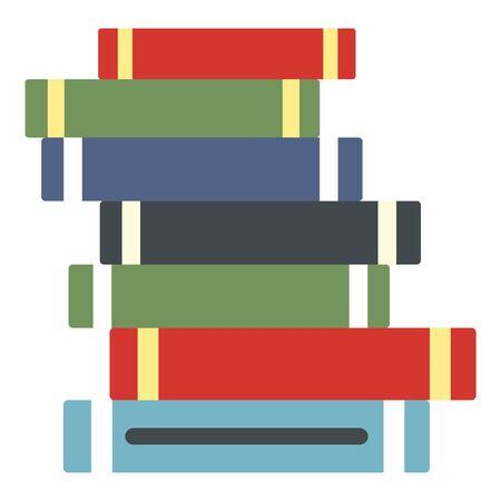Stack of books icon, flat style Ilustrace