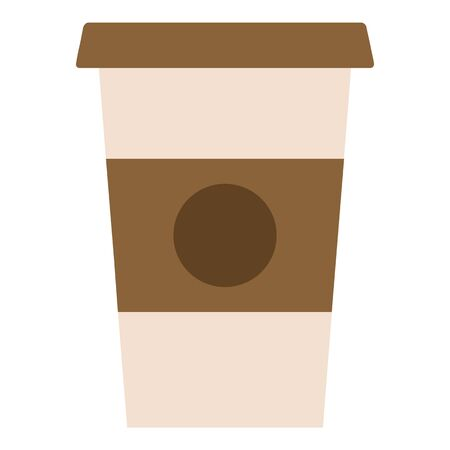 Hot coffee icon, flat style Ilustrace