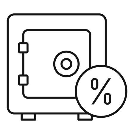Money safe icon, outline style Ilustracja