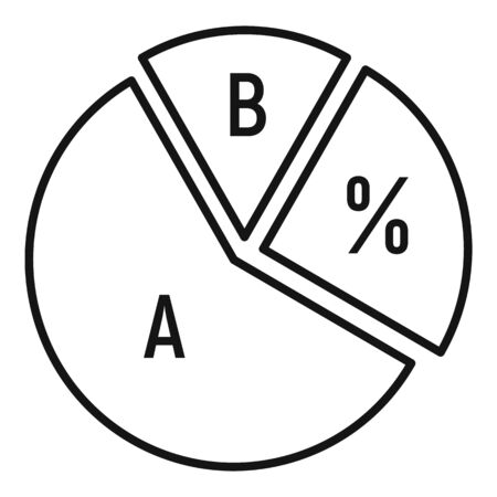Chart pie icon, outline style