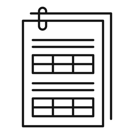 Tax papers icon, outline style