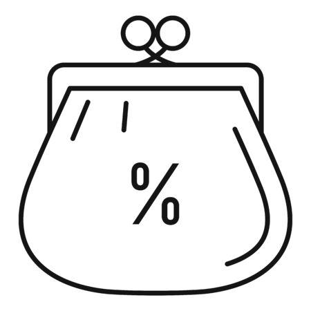 Woman wallet icon, outline style Stock Illustratie