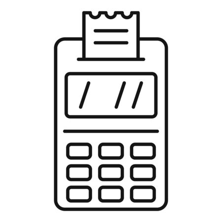 Payment terminal icon, outline style