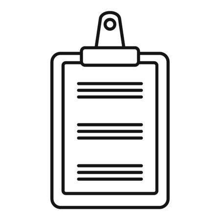 Clipboard icon, outline style