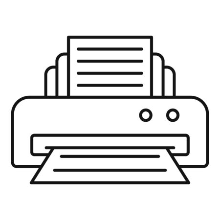 Office printer icon, outline style