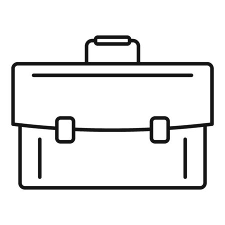 Leather case icon, outline style