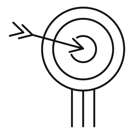 Business target icon, outline style 일러스트