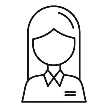 Woman avatar icon, outline style