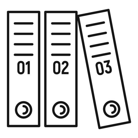 Office folder icon, outline style Ilustracja