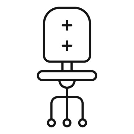 Computer chair icon, outline style