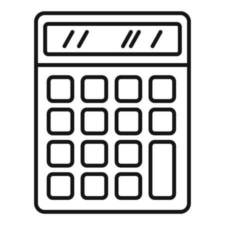 Office calculator icon, outline style