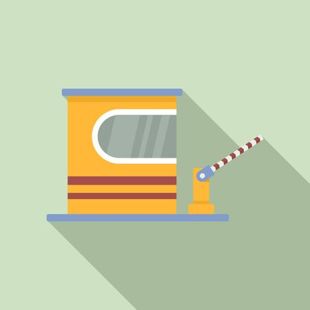 Toll road barrier icon, flat style