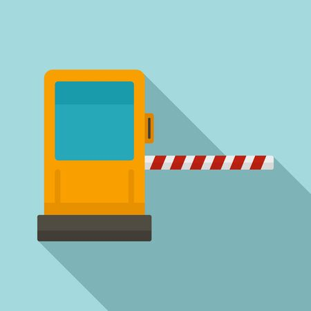 Toll road gate icon, flat style Фото со стока - 133488266