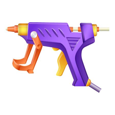 Glue gun icon, cartoon style