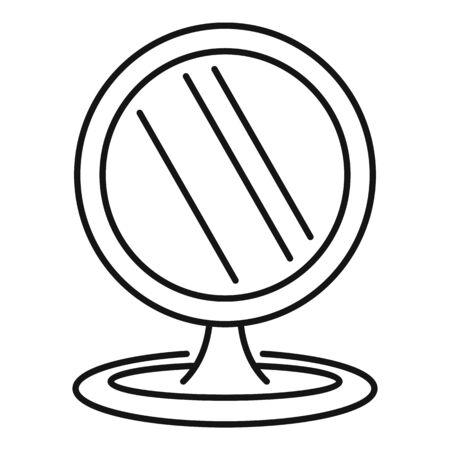 Plastic mirror icon, outline style Stock fotó - 133489615