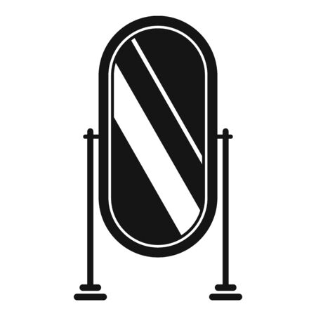 Home mirror icon, simple style