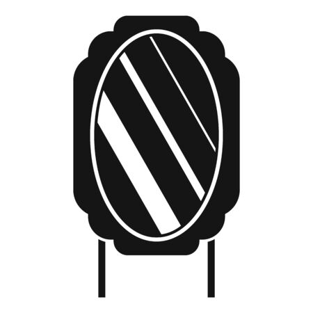 Table mirror icon, simple style