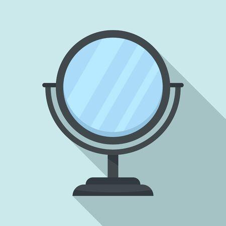 Cosmetic mirror icon, flat style Ilustração