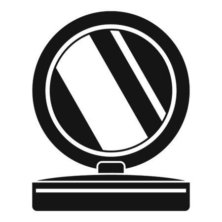 Plastic mirror icon, simple style Illusztráció