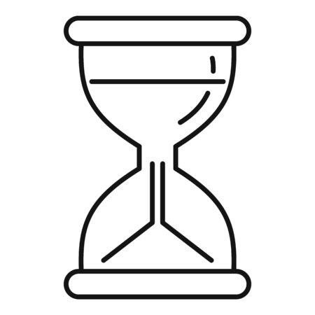 Hourglass icon, outline style Stock fotó - 133489742