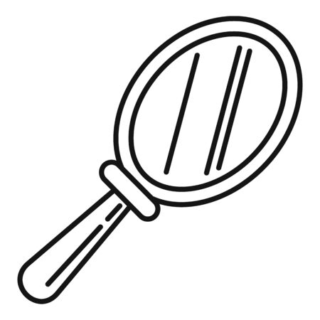 Hand mirror icon, outline style