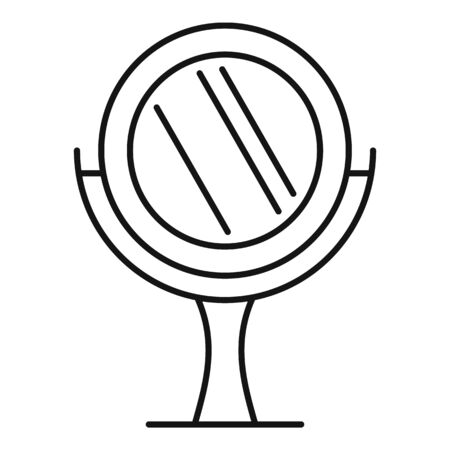 Home mirror icon, outline style