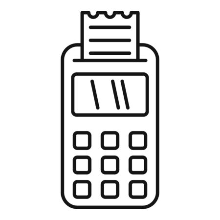 Payment terminal icon, outline style Stock fotó - 133489753