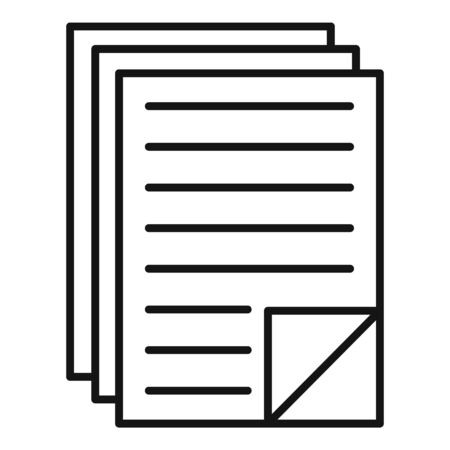 Office documents icon, outline style Stock fotó - 133489756