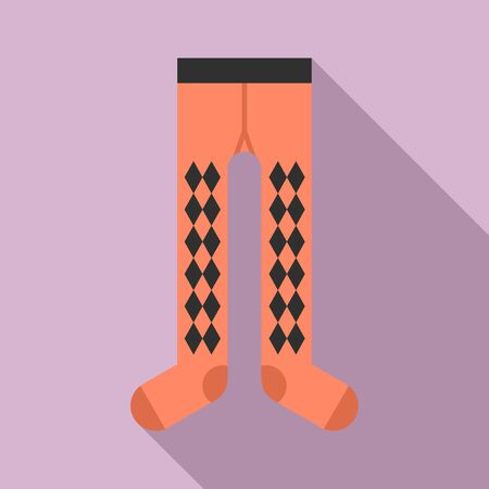 Male tights icon, flat style