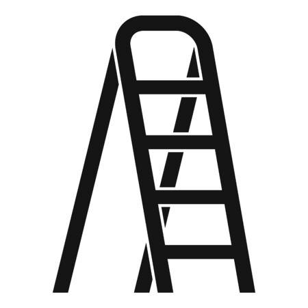Aluminium ladder icon. Simple illustration of aluminium ladder vector icon for web design isolated on white background