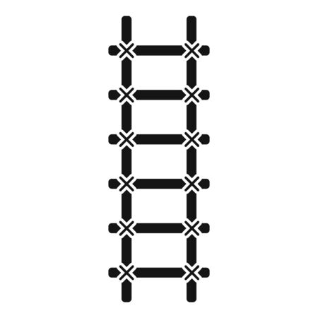 Handmade ladder icon. Simple illustration of handmade ladder vector icon for web design isolated on white background