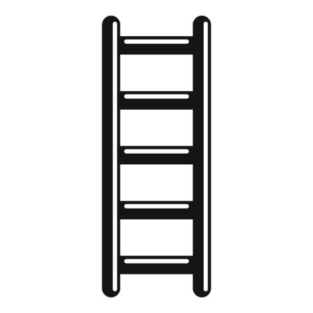 Metal ladder icon. Simple illustration of metal ladder vector icon for web design isolated on white background