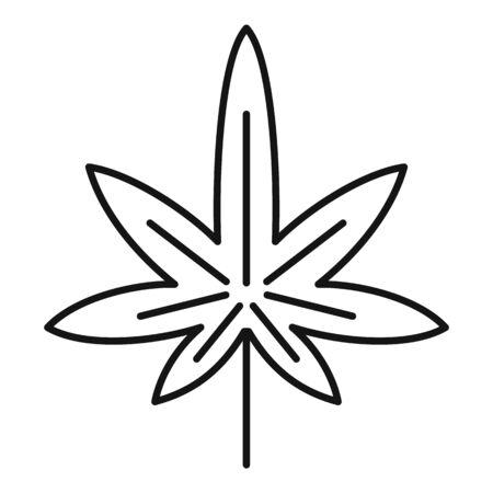 Marijuana addiction icon. Outline marijuana addiction vector icon for web design isolated on white background Ilustracja
