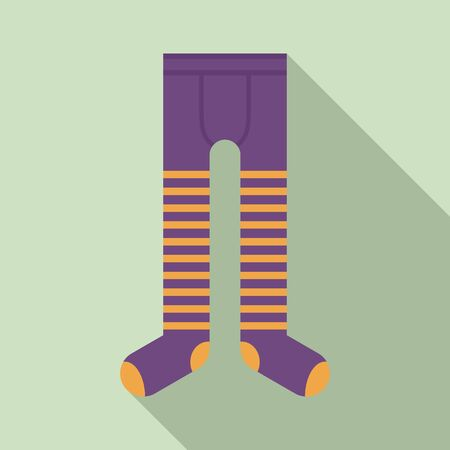 Cotton tights icon. Flat illustration of cotton tights vector icon for web design