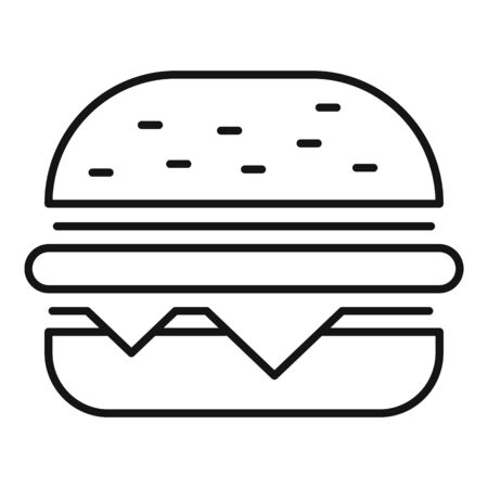 Fast food addiction icon. Outline fast food addiction vector icon for web design isolated on white background Ilustração