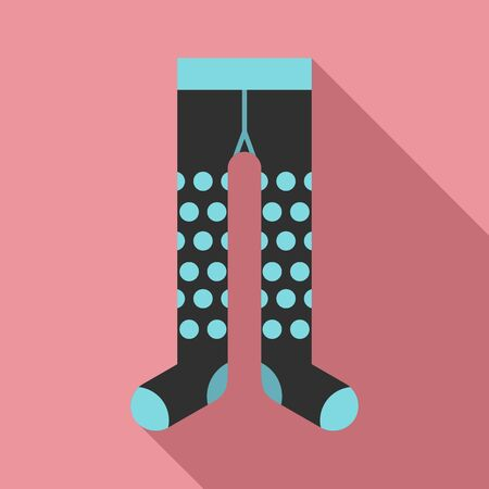 Dotted tights icon. Flat illustration of dotted tights vector icon for web design