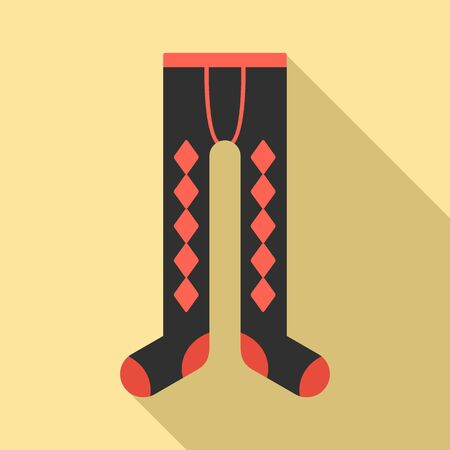 Winter tights icon. Flat illustration of winter tights vector icon for web design