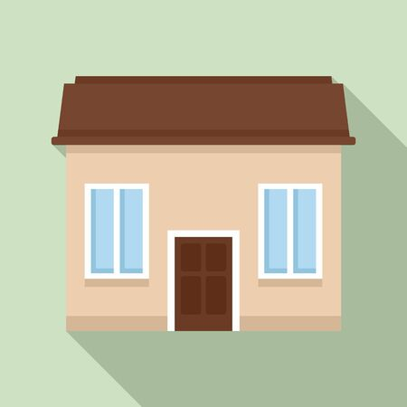 Property cottage icon, flat style Stock Illustratie