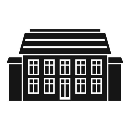 Old cottage icon, simple style