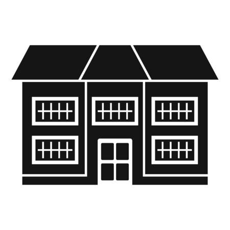 Apartment cottage icon, simple style
