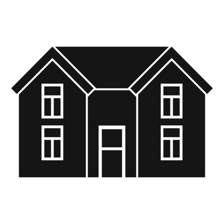 Small cottage icon, simple style