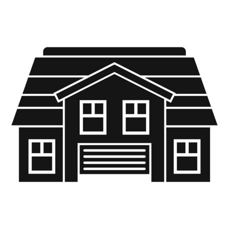 Property cottage icon, simple style