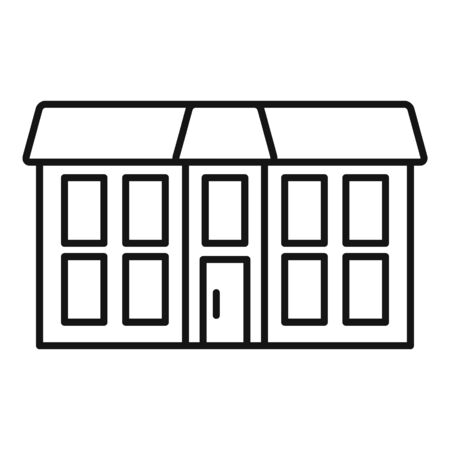 Old cottage icon, outline style