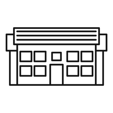Apartment cottage icon, outline style