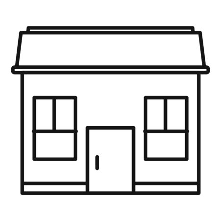 Property cottage icon, outline style