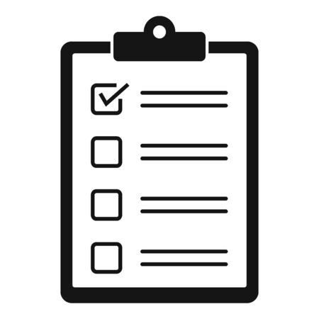 Paper checklist icon, simple style  イラスト・ベクター素材