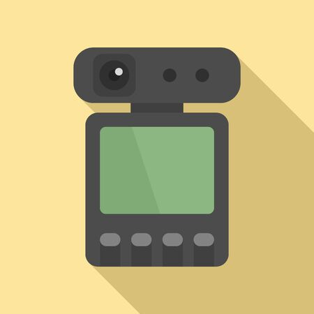 Dvr recorder icon, flat style